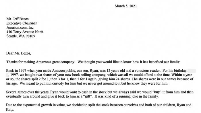 Letter from Jeff Bezos to Amazon Shareholders